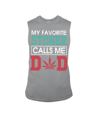 my favorite stoner calls me dad shirt white