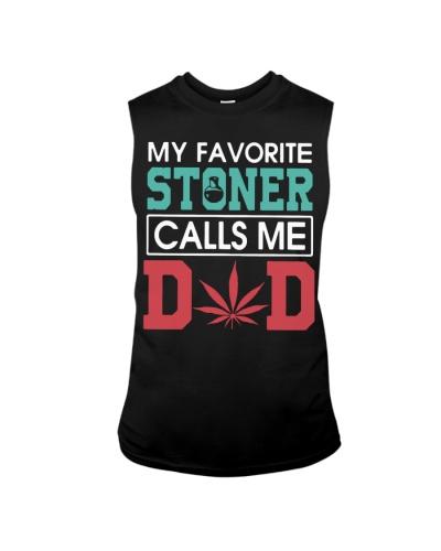my favorite stoner calls me dad shirt black