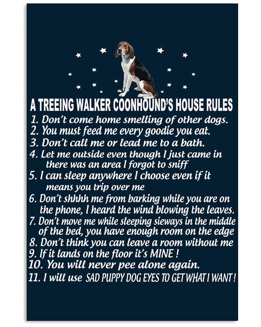 TREEING WALKER COONHOUND 11x17 Poster