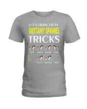 TRICKS BRITTANY SPANIEL Ladies T-Shirt thumbnail