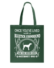 Bluetick Coonhound Tote Bag thumbnail