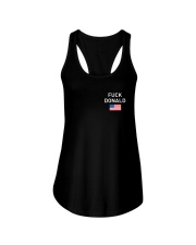 FUCK DONALD - USA - Black Ladies Flowy Tank front