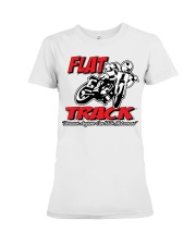 FLAT TRACK ANYONE CAN RIDE MX PARKER Premium Fit Ladies Tee thumbnail