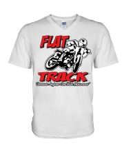 FLAT TRACK ANYONE CAN RIDE MX PARKER V-Neck T-Shirt thumbnail