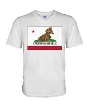 SPEEDWAY CALIFORNIA REPUBLIC  V-Neck T-Shirt thumbnail