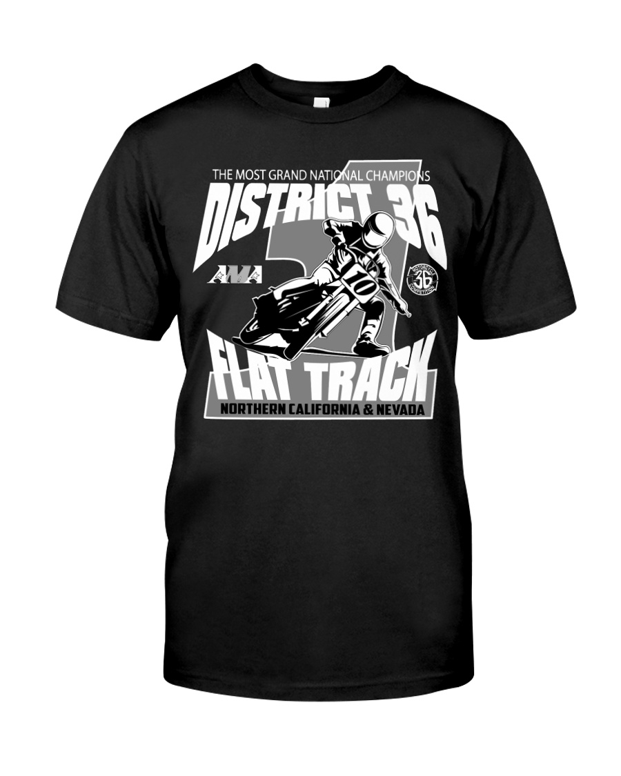 D-36 FLAT TRACK DISTRICT OF CHAMPIONS 2020 DARKS Classic T-Shirt