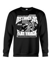 D-36 FLAT TRACK DISTRICT OF CHAMPIONS 2020 DARKS Crewneck Sweatshirt thumbnail