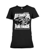 D-36 FLAT TRACK DISTRICT OF CHAMPIONS 2020 DARKS Premium Fit Ladies Tee thumbnail