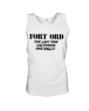 FORT ORD Last Time California Had Balls Unisex Tank thumbnail