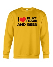 I LOVE FLAT TRACK AND BREW Crewneck Sweatshirt thumbnail