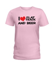 I LOVE FLAT TRACK AND BREW Ladies T-Shirt thumbnail