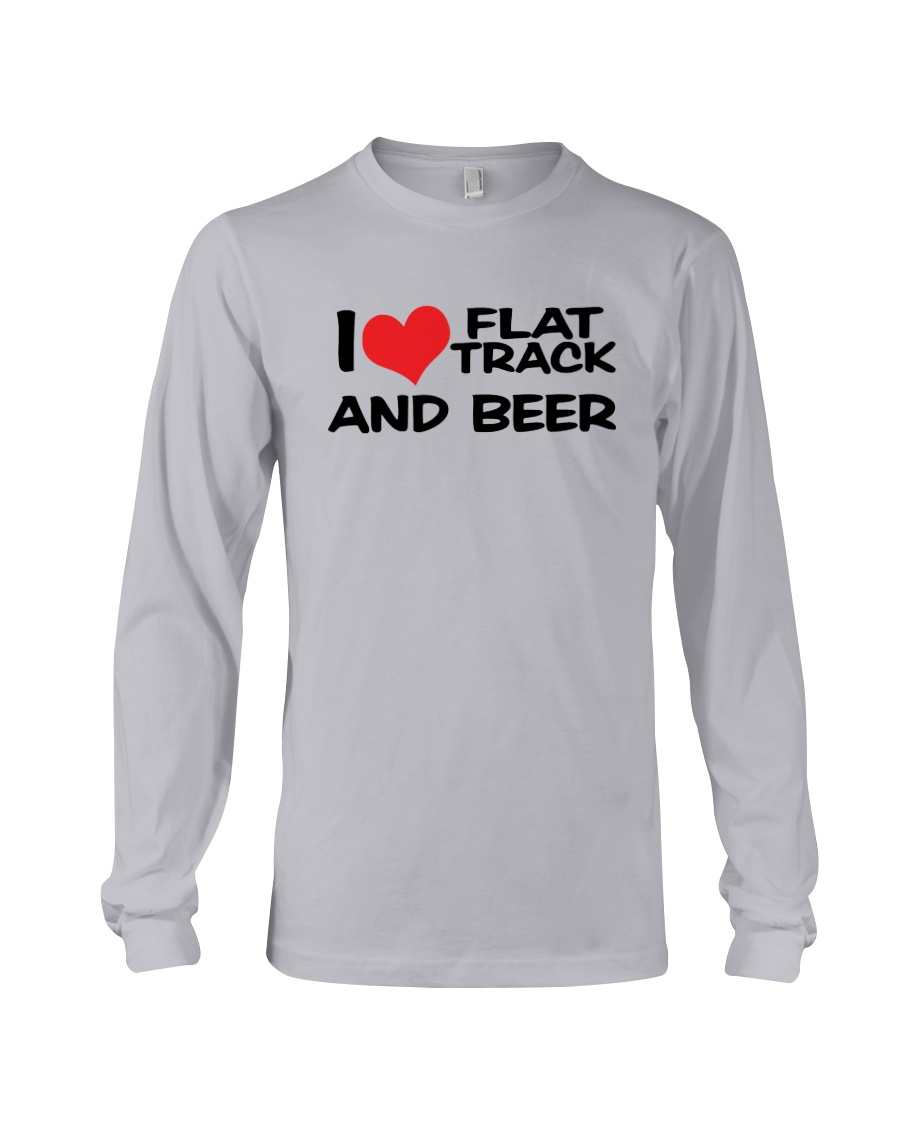 I LOVE FLAT TRACK AND BREW Long Sleeve Tee