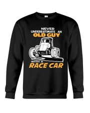 OLD GUY WITH A RACE CAR NON WING SPRINT Crewneck Sweatshirt thumbnail