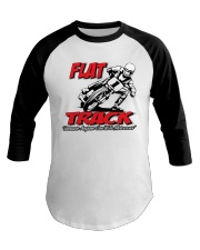 FLAT TRACK BECAUSE ANYONE CAN RIDE MX Baseball Tee tile