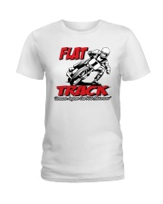FLAT TRACK BECAUSE ANYONE CAN RIDE MX Ladies T-Shirt tile
