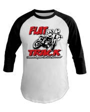 Flat Track  because Anyone can ride motocross Baseball Tee tile