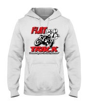 Flat Track  because Anyone can ride motocross Hooded Sweatshirt thumbnail