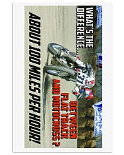 DIFFERENCE BETWEEN FLATTRACK AND MX 16x24 Poster front