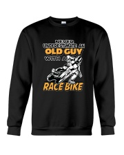 OLD GUYS WITH RACE BIKES-REVISED Crewneck Sweatshirt thumbnail