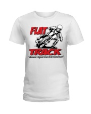 FLAT TRACK Because Anyone can Ride Motocross Kenny Ladies T-Shirt thumbnail