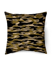 """Brown Grid Camouflage Indoor Pillow - 16"""" x 16"""" thumbnail"""