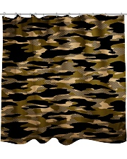 Brown Grid Camouflage Shower Curtain thumbnail