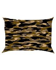 Brown Grid Camouflage Rectangular Pillowcase thumbnail