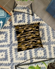 Brown Grid Camouflage Square Pillowcase aos-pillow-square-front-lifestyle-01