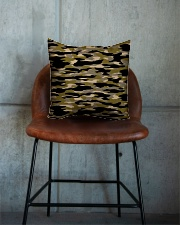 Brown Grid Camouflage Square Pillowcase aos-pillow-square-front-lifestyle-04