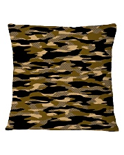 Brown Grid Camouflage Square Pillowcase front