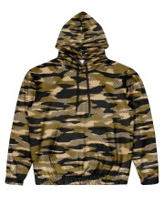 Brown Grid Camouflage Men's All Over Print Hoodie thumbnail