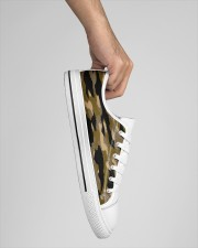 Brown Grid Camouflage Men's Low Top White Shoes aos-men-low-top-shoes-white-outside-right-lifestyle-01