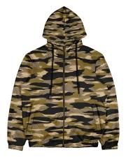 Brown Grid Camouflage Men's All Over Print Full Zip Hoodie thumbnail