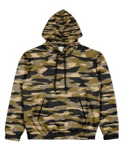 Brown Grid Camouflage Women's All Over Print Hoodie thumbnail