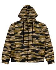 Brown Grid Camouflage Women's All Over Print Full Zip Hoodie thumbnail