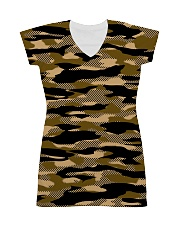 Brown Grid Camouflage All-over Dress thumbnail