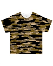 Brown Grid Camouflage All-over T-Shirt thumbnail