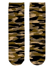 Brown Grid Camouflage Crew Length Socks thumbnail