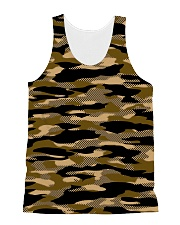 Brown Grid Camouflage All-over Unisex Tank thumbnail
