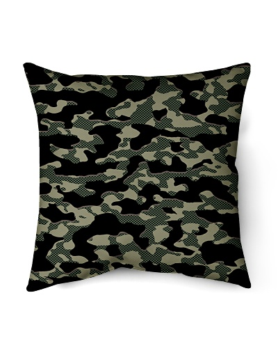 Green Grid Camouflage Home