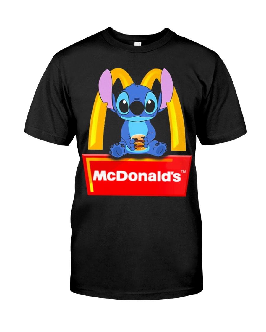 Stitch Loves Mcdonalds Classic T-Shirt