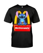 Stitch Loves Mcdonalds Classic T-Shirt front