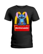 Stitch Loves Mcdonalds Ladies T-Shirt thumbnail