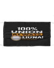 100 union always Cloth face mask front