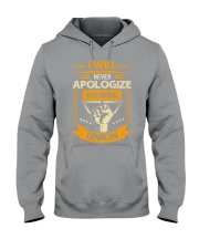 I will never apologize for being union Hooded Sweatshirt thumbnail
