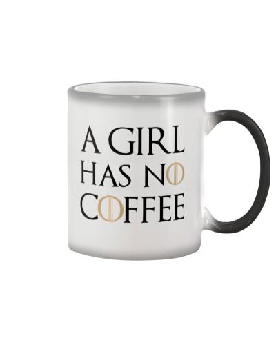 A girl has no coffee