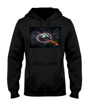 Black Hole Q Ship  Hooded Sweatshirt thumbnail