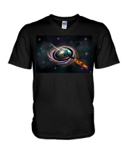 Black Hole Q Ship  V-Neck T-Shirt thumbnail