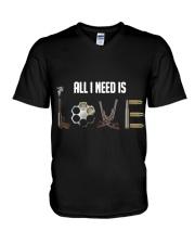 GUNS - all i need is love T Shirt V-Neck T-Shirt thumbnail