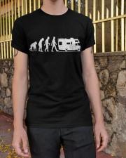 Camping Car Humour Retraite - Evolution de l'homme Classic T-Shirt apparel-classic-tshirt-lifestyle-21